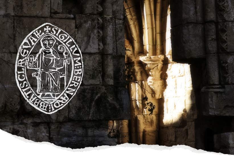 Monasterio en ruinas y ruta con misterio