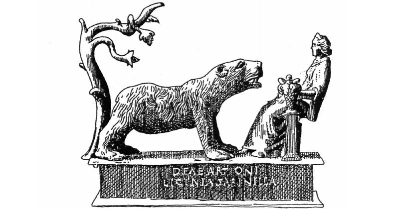 Piedra Escrita, diosa celta Artio y el oso
