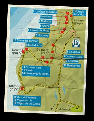 Mapa Ruta de las Caras