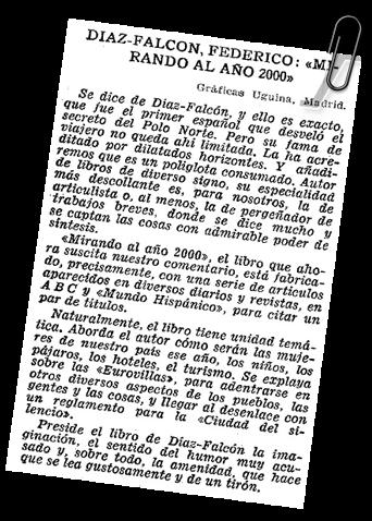 libro Federico Díaz Falcón -  Mirando al Año 2000