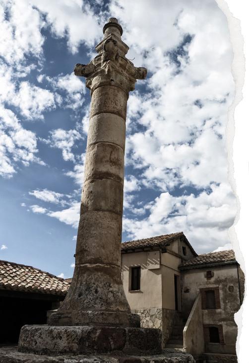 rollo de justicia o picota de Caracena, plaza mayor, inquisición, tortura medieval
