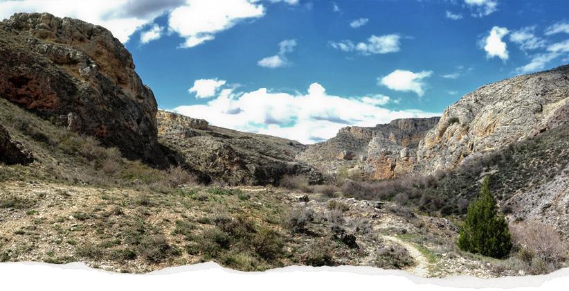ruta cañón senderismi Caracena desde Tarancueña