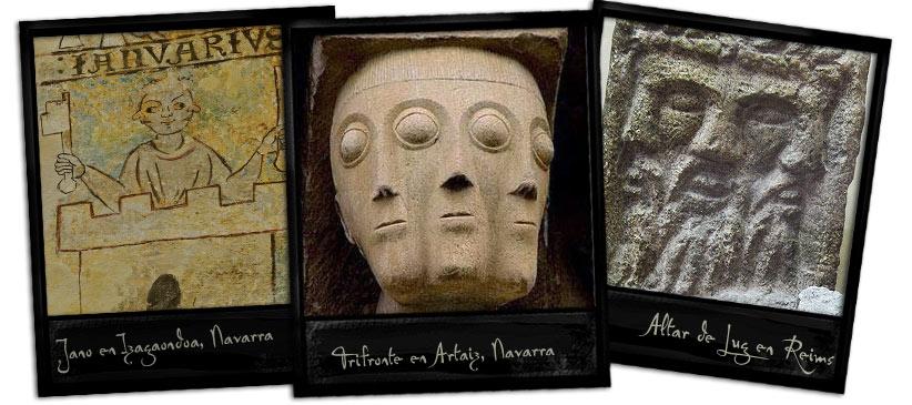 trifrontes y dioses de la antiguedad