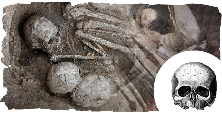 Culto al cráneo, enterramiento neolítico