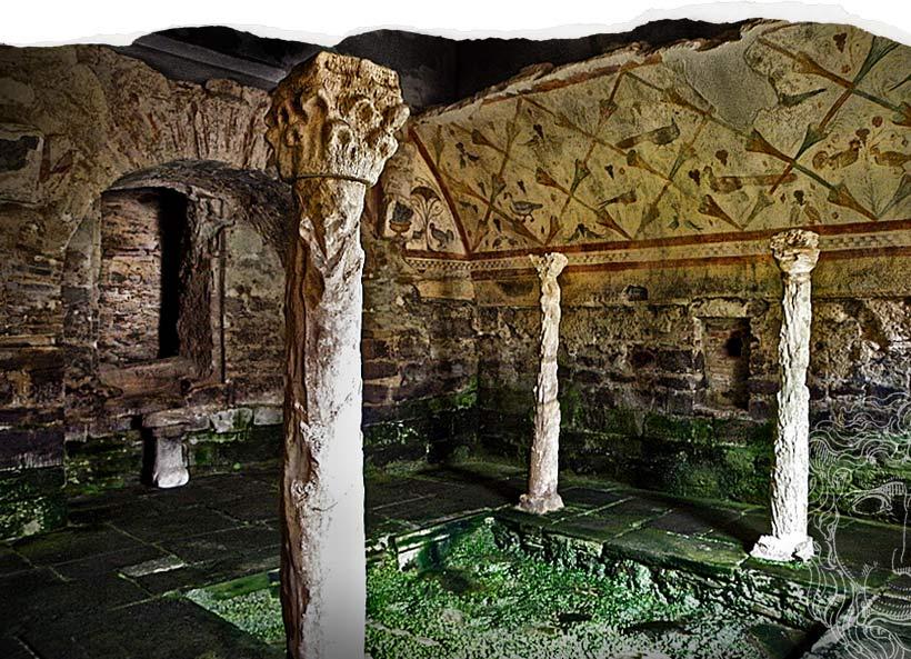 Interior del templo de Santa Eulalia de Bóveda, un misterio a la Diosa Cibeles