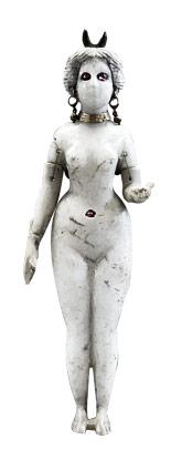 Estatuilla de la diosa Ishtar, coronada por una media luna